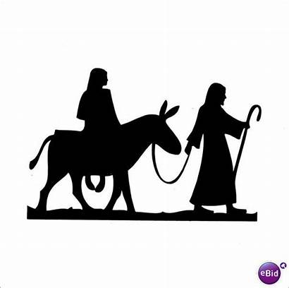 Joseph Donkey Mary Clipart Silhouette Riding Clip