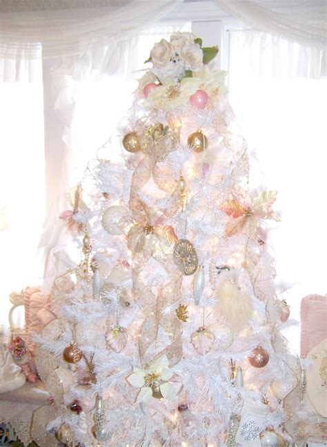 christmas shabby chic awesome white shabby chic christmas tree