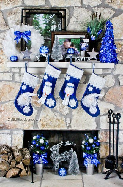 blue christmas decor ideas  pinterest blue