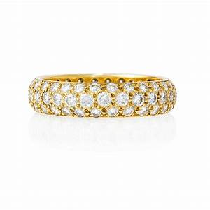 197ct diamond 18k yellow gold eternity wedding band ring With 18k wedding ring