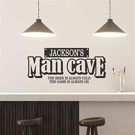 amazoncom custom  man cave wall decal personalized