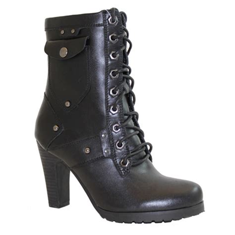 laced motorcycle boots women 39 s 10 quot ad tec laced biker boots with side zipper