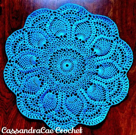 doily patterns pink pineapple doily free crochet pattern