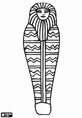 Egypt Ancient Drawing Coloring Casket Egyptian Pages Coffin Mummy Sarcophagus Clipartmag sketch template