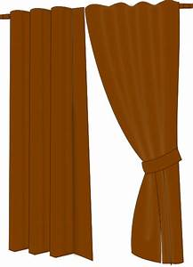 Brown curtains clip art at clkercom vector clip art for Brown curtains png