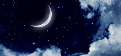 silver moon moon night sky star background image