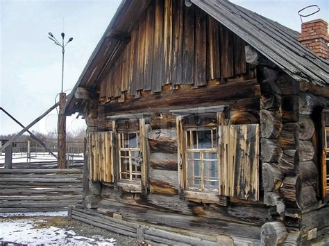 free a frame house plans the rural house in siberia stock photo colourbox