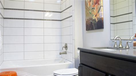 Bathroom Tile Grout by Large White Glossy Brite Tiles Colour And Dimension
