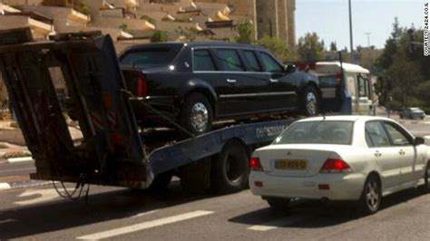 s cadillac the beast is more like thank than car presidential limo breaks ahead of obama s arrival