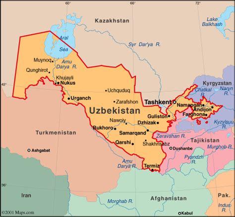 uzbekistan map political regional maps  asia regional