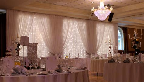 lighting and drapes hire for weddings and events