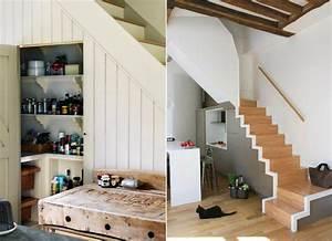 meubles sous escalier sur mesure et idees d39amenagement With meuble cuisine petit espace 11 amenagement dune cuisine deco avec une kitchenette
