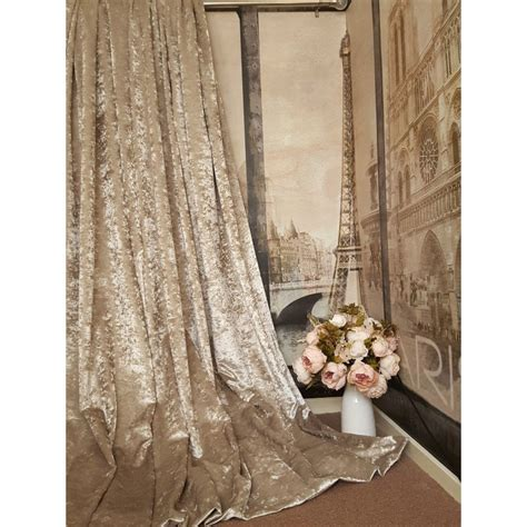 Silver Grey Curtains With Eyelets by Stunning Heavy Champagne Crushed Velvet 111 Quot D 52 Quot W