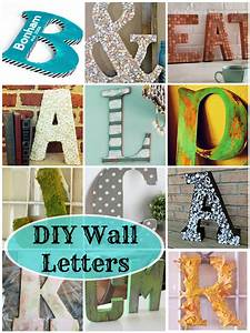 diy wall letters 16 awesome projects deja vue designs With letter wall art ideas