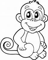 Monkey Animals Baboon sketch template