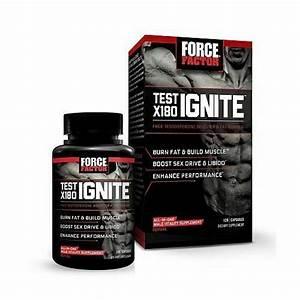 Force Factor Test X180 Ignite Testosterone Booster  U0026 Fat Burner 120 Capsules For Sale Online