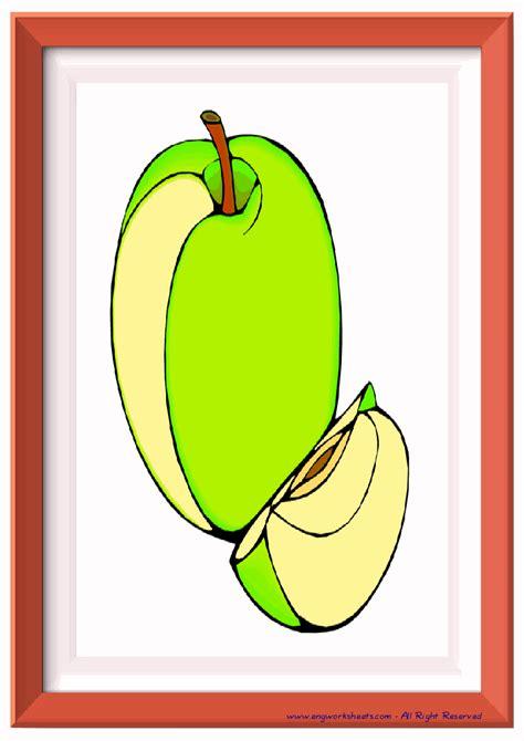 fruits esl printable flash cards worksheets