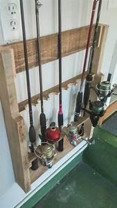 Items Similar To Wall Mount Fishing Rod Holder