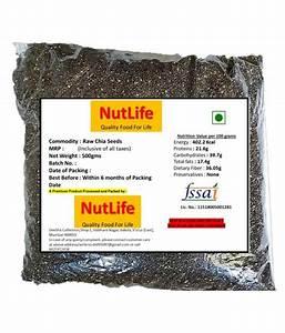Nutlifefresh Chia Seeds 500 G  Buy Nutlifefresh Chia Seeds 500 G At Best Prices In India
