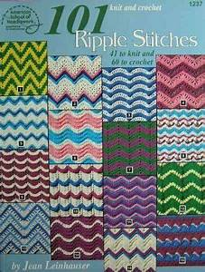 Knit And Crochet 101 Ripple Stitches By Jean Leinhauser