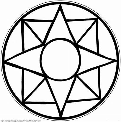 Mandala Coloring Pages Printable Children Easy Simple