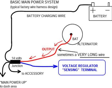 wiring diagram one wire alternator wiring diagram single