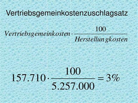 verwaltungsgemeinkosten berechnen kosten berdeckung und