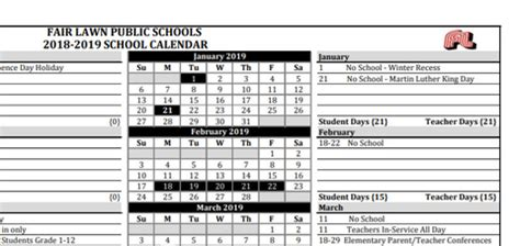 fair lawn trustees approve school calendar tapinto