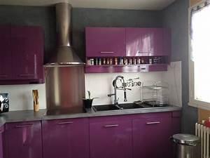 Chambre violette et grise great dcoration chambre for Idee deco cuisine avec lit gonflable
