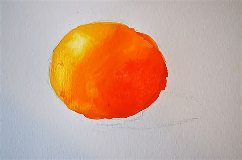 how to paint an orange using the color wheel method of