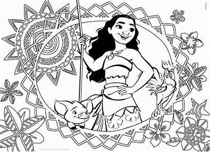 Moana Coloring Pages Printable Disney Sheets Princess