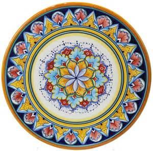 italian majolica ceramic cheese plate