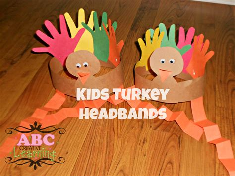 turkey headband craft for 730 | Turkey Headbands Kid Crafts