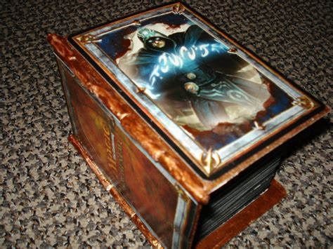 custom spell book deck box version 2 artwork creativity community forums mtg salvation