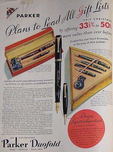 parker duofold vintage ads  pens  pinterest