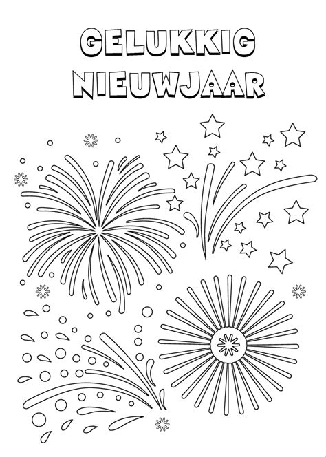 Gelukkig Nieuwjaar 2017 Kleurplaat by Kleurplaat Oud En Nieuw 25 Oudjaar Nieuwjaar Kleurplaten