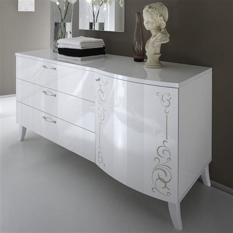 commode chambre blanc laqué commode chambre commode large chambre adulte modern