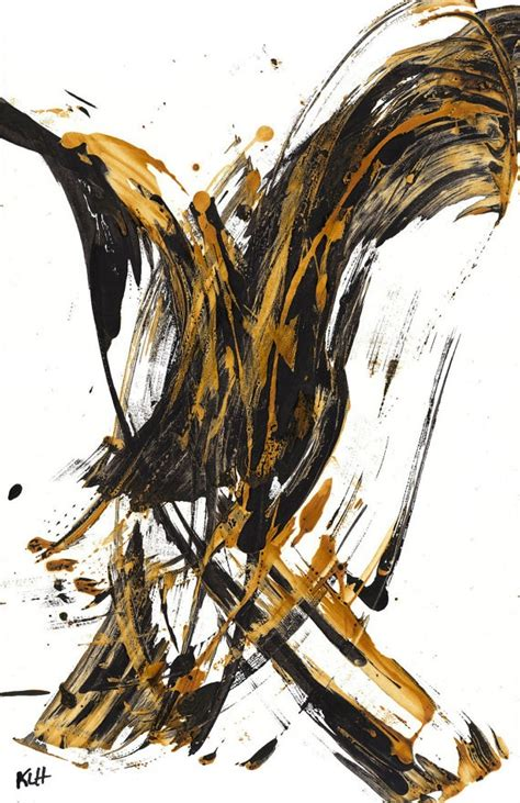Abstract Black Gold Painting by 17 Best Images About Expressive On
