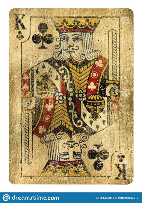 The clientele are most disrespectful and inappropriate. King Of Clubs Vintage Playing Card - Isolated On White Stock Photo - Image of blackjack ...