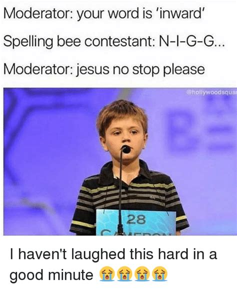 your word is a l moderator your word is 39 inward spelling bee contestant n l