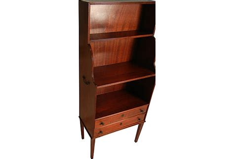 Etagere With Drawers by Beautiful Mahogany Bookcase Etagere With Drawers Vintage