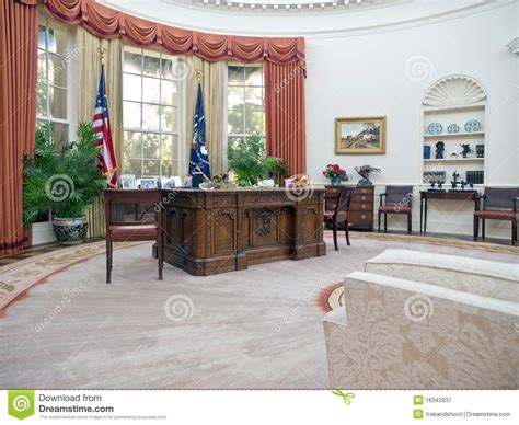 bureau ovale maison blanche bureau ovale photographie éditorial image 16342837