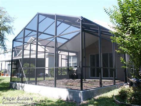 orlando florida screen cage enclosure prager builders