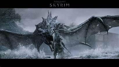 Skyrim Wallpapers Elder Scrolls Awesome Dragonborn Comes
