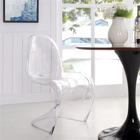 clear acrylic dining side chair contemporary dining