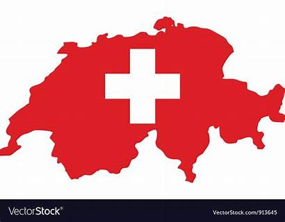 Switzerland Flag Map Vector Royalty
