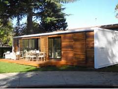 Prefab House By Connect Homes In Silicon Valley Photo Courtesy Of House Plans With Loft Small Prefab Modular Homes Modular Log Home Explore Tiny House Guest House And More Modular Home Small Concrete Modular Homes