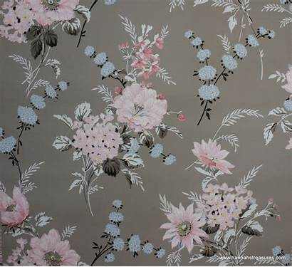 Floral Gray 1940 Flowers Grey 1940s Wallpapers