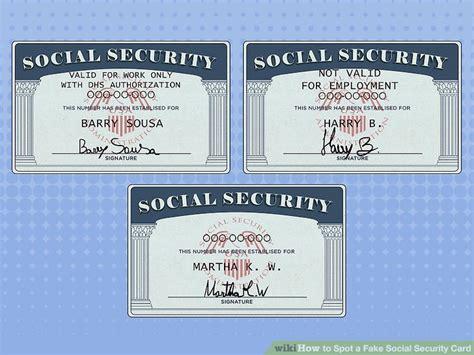 ways  spot  fake social security card wikihow