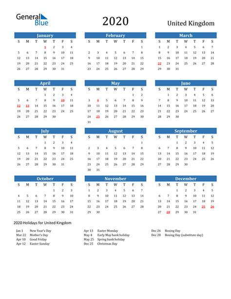 calendar united kingdom  holidays